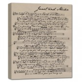 sheet music canvas anniversary