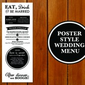 Poster Style Menu