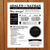 Poster Style Wedding Program