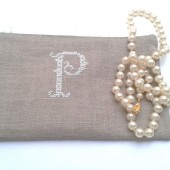 Monogramed pouch
