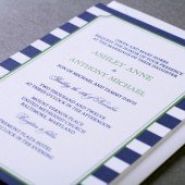 Preppy Stripe Wedding Invitation