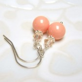 Coral Bridesmaid Earrings