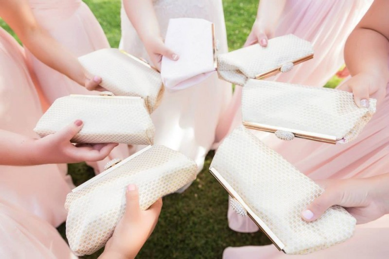 pretty bridesmaid clutches
