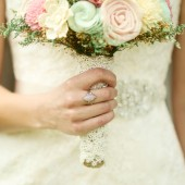romantic bouquet, pink and mint bridal bouquet, sola flowers, alternative bouquet, rustic wedding