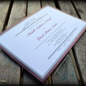 Purple Panel Pocket Invitation