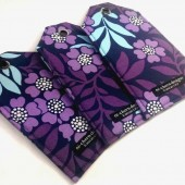 Purple Floral Luggage Tags