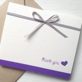 Purple Wedding Thank You Card