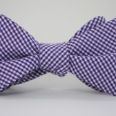 Purple Check bowtie