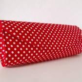 Red polka dot  clutch