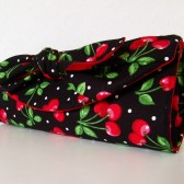 Cherry rockabilly clutch
