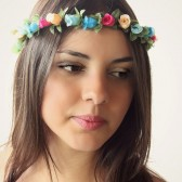 Rainbow Flower Headpiece