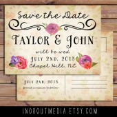 Floral Vintage Save the Date