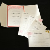 Red and White Pocketfold Invitation
