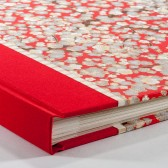 Red Cherry Blossom Guest Book