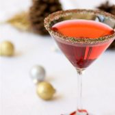 Red Green and White cocktail rim sugar - Christmas wedding