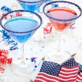 red white and blue cocktail rim sugar
