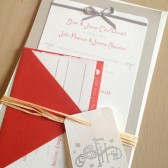 Poppy Red Wedding Invitation Suite