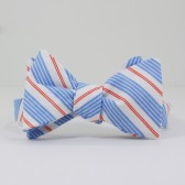 Red, Blue and White Stripe Bow Tie