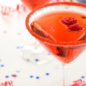 Red cocktail rim sugar