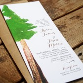 Redwood Wedding Invitation