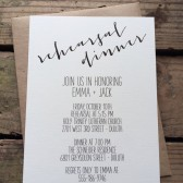 Rustic Rehearsal Dinner Invitation