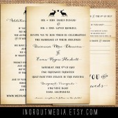 Rustic Reindeer Invitation Suite