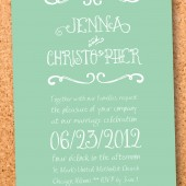 rustic typographic wedding invitation