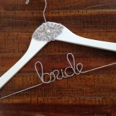 Wedding Hanger with Vintage Rhinestones