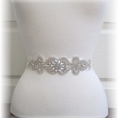 Bridal Sash, Bridal Belt, Wedding Dress Sash, Crystal Rhinestone Bridal Sash