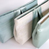 Custom Bridesmaid Clutches / Classic Ribbon Clutch / Vintage Wedding / Silk, Satin, Raw Silk