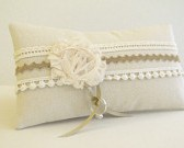 ring bearer pillow, natural rustic wedding, oatmeal, natural, rustic