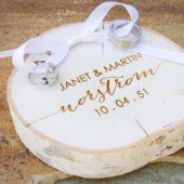 Custom Engraved Ring Pillow