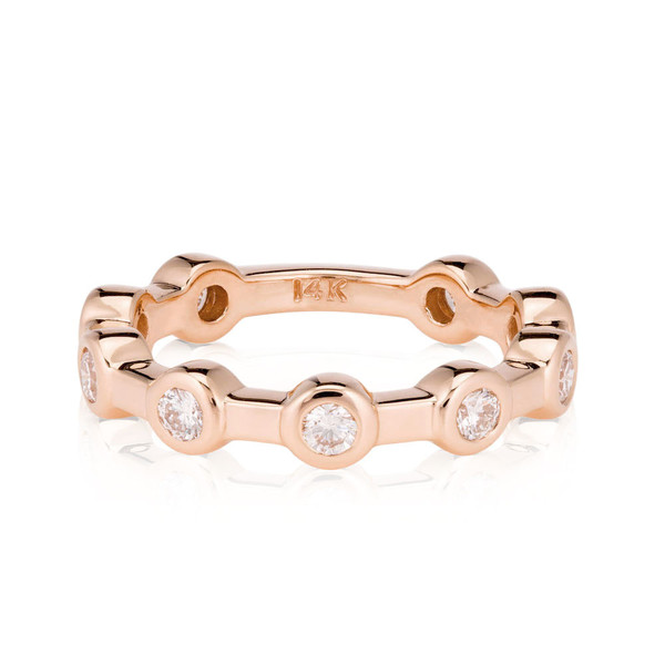 14k Rose Gold Constellation Wedding Ring   by LilyEmme Jewelry