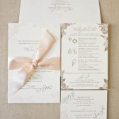 Rose Letterpress Invitation Suite