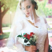 Sweet Alencon Lace Mantilla