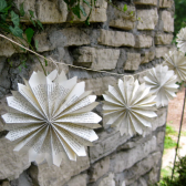 Rosette Garland, Book Garland, Paper Rosette, Book Themed Wedding, Book Wedding, Shower Decor