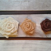 Burlap Rosettes-Many Sizes & Colors