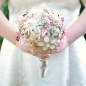 Vintage Pink Brooch Bouquet