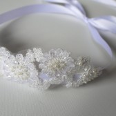 Grace Headband, Bridal, Headband, Wedding, Hair, Accessories, White, Lace, Pearls, Beads, Sequins