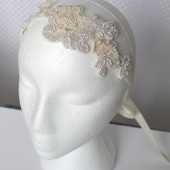 Pearl Headband, Bridal, Headband, Hair, Accessories, Lace, Pearls, Beads, Champagne, Cream, Pink, Purple