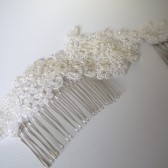 Mia Hair Comb, Bridal, Hair, Comb, Wedding, Accessories, Ivory, Lace, Beads, Vintage