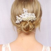 Cora Lace Pearl Hair Comb
