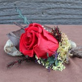 ruby rose woodland boutonniere