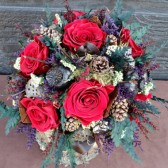 ruby rose woodland brides bouquet
