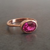 Ruby Engagement Ring in Rose Gold
