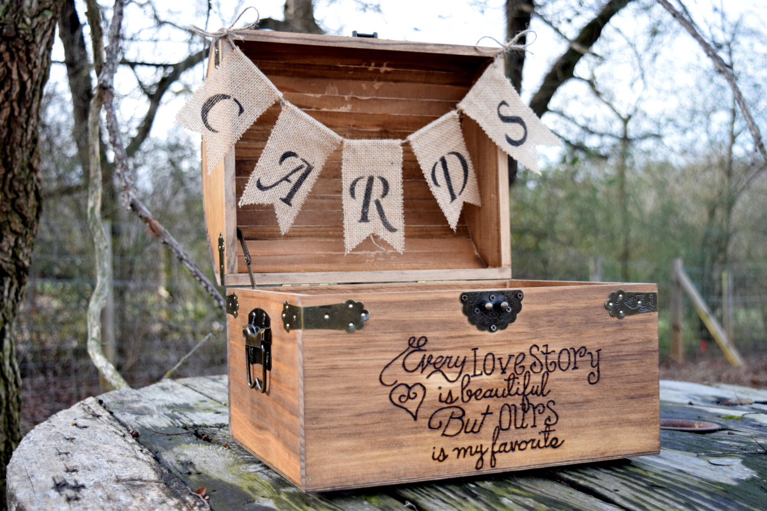 Wood Wedding Card Box