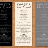 Rustic Wedding Schedule Program