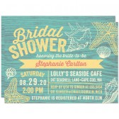 Rustic Beach Seashells Bridal Shower Invitations by The Spotted Olive