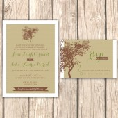 Rustic Tree Wedding Invitations