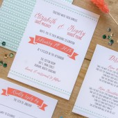 Rustic Tribal Wedding Invitation